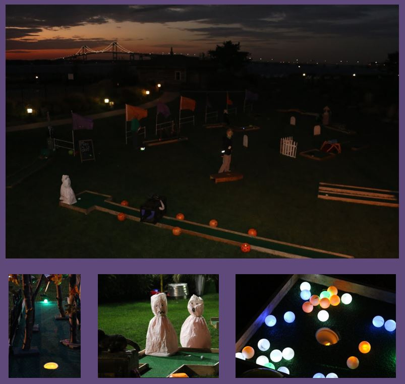 Halloween Mini Golf in the Dark
